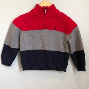 Nautical infant boy's sweater